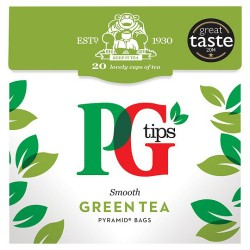 Pg Tips Green Tea 20S Pyramid Teabags 28G