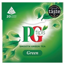 Pg Tips Green Tea 20S Teabags 28G