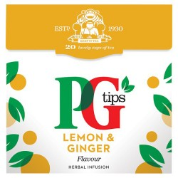 Pg Tips Lemon And Ginger 20S Pyramid Teabags 40G