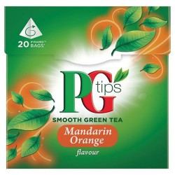 Pg Tips Mandar Orange Green Tea 20S Teabags 28