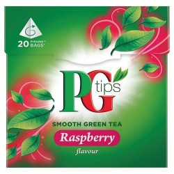 Pg Tips Raspberry Green Tea 20S Teabags 28G