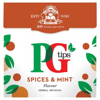 Pg Tips Spices And Mint 20S Pyramid Teabags 40G