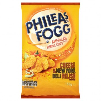 Phileas Fogg Bubble Chip Cheese And Deli Relish 150G