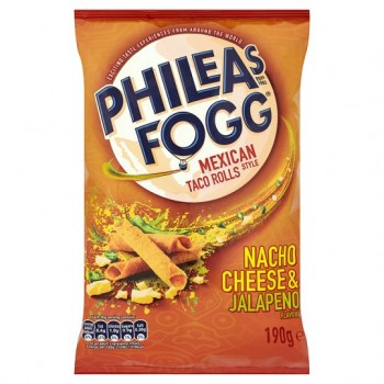 Phileas Fogg Taco Rolls Nacho Cheese And Jalapeno 190G