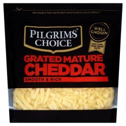 Pilgrims Choice Mature Grated Cheddar 300G