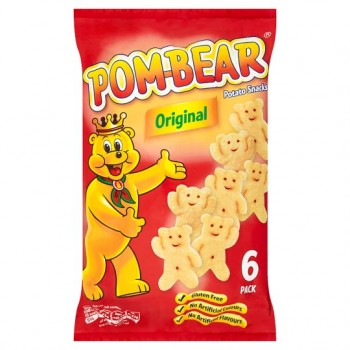 Pom Bear Original Snacks 6X19g