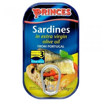 Princes Sardines In Extra Virgin Olive Oil 120G