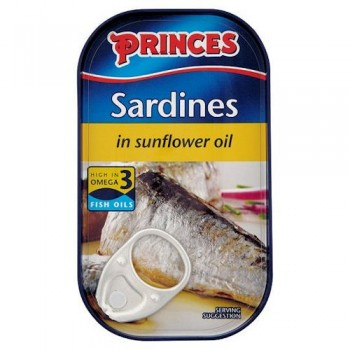 Princes Sardines In Sunflower Oil 120G