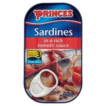 Princes Sardines In Tomato 120G