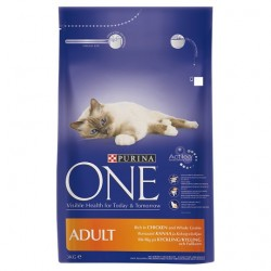 Purina One Cat Adult Chicken And Rice 3Kg