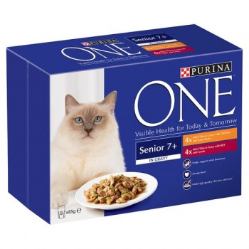 Purina One Wet Chicken Beef 8X85g