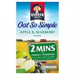 Quaker Oat So Simple Apple Blueberry Porridge 10X36g
