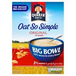 Quaker Oat So Simple Big Bowl Original Porridge 10X38.5G