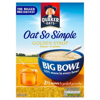 Quaker Oat So Simple Bigbwl Golden Syrup Porridge 8S 397G
