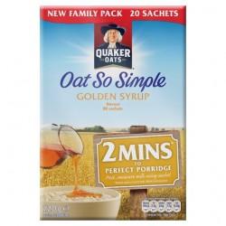 Quaker Oat So Simple Golden Syrup Porridge 20 X 36G