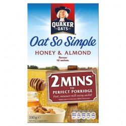 Quaker Oat So Simple Honey And Almond Porridge 10 X 33G
