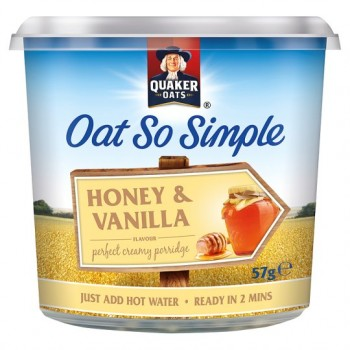 Quaker Oat So Simple Honey Vanilla Porridge 57G