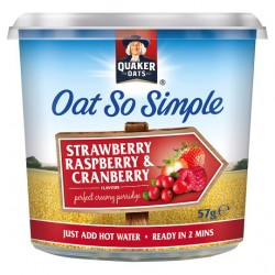 Quaker Oat So Simple Strawberry Raspberry Cranberry Porridge 57G