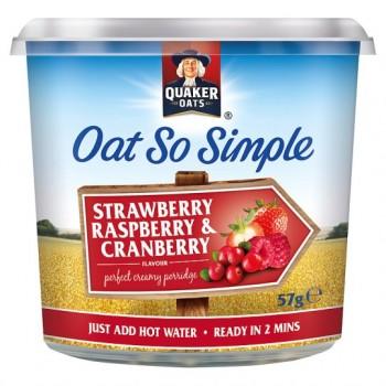 Quaker Oat So Simple Strawberry Raspberry Cranberry Porridge 57G