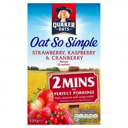 Quaker Oat So Simple Strawberry, Raspberry Porridge 10X33.9G