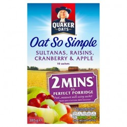 Quaker Oat So Simple Sultana Raisin Cranberry 10X38.5G