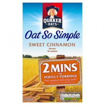 Quaker Oat So Simple Sweet Cinnamon Porridge 10X33g