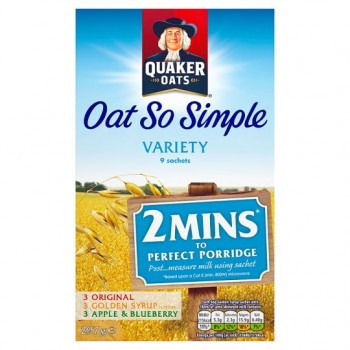 Quaker Oat So Simple Variety Porridge 9Pk 297G