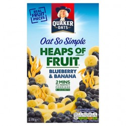 Quaker Oats So Simple Heaps Of Fruit Banana And Blueberry 278G