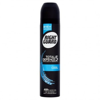 Right Guard Total Defence 5 Cool Antiperspirant Deodorant 250Ml