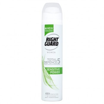 Right Guard Women Sensitive Power Antiperspirant Deodorant 250Ml