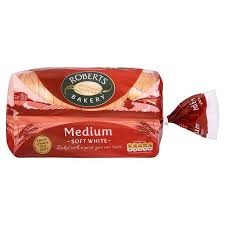 Roberts White Medium Sliced Loaf 800G