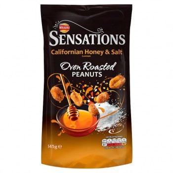 Sensations Californian Hon& Salt Peanuts 145G