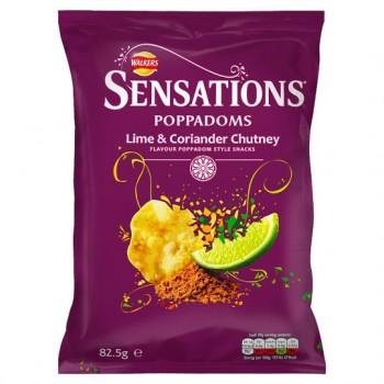 Sensations Lime Coriander Chutney Poppadoms 82.5G