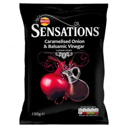 Sensations Onion And Balsamic Vinegar Crisps 150G