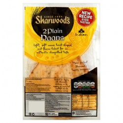 Sharwoods 2 Large Plain Naan Bread 260G