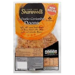 Sharwoods Garlic Coriander Naans 2'S