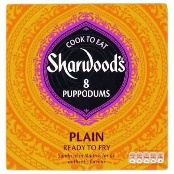 Sharwoods Ready To Cook Plain Papadums 8 Pack