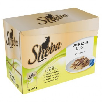Sheba Pouch Duos Mixed Selection In Sauce 12X85g
