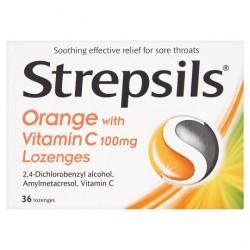 Strepsils Orange And Vitamin C 36S