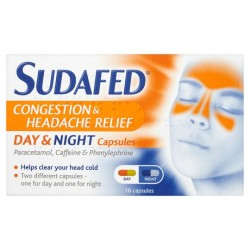 Sudafed Headache Day And Night Capsules 16'S
