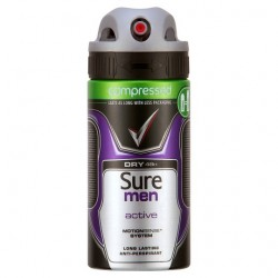 Sure Men Active Antiperspirant Deodorant Compressed 75Ml