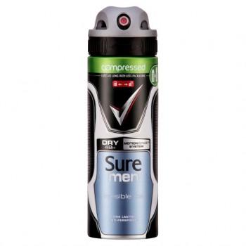 Sure Men Invisible Ice Antiperspirant Deodorant Compressed 125Ml