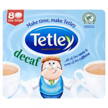 Tetley Decaffeinated 80 Tea Bags 250G