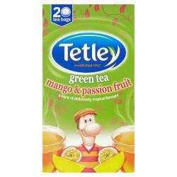 Tetley Green Tea Mango And Passion Fruit 40G