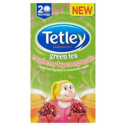 Tetley Green Tea Raspberry And Pomegranate 40G