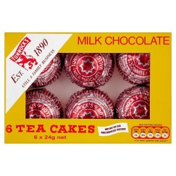 Tunnocks Milk Chocolate Teacakes 6X24g