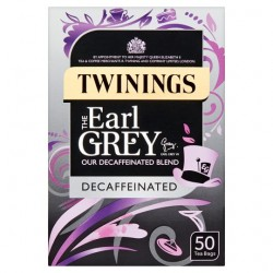 Twinings Earl Grey Decaffeinated 50 Teabags 125G