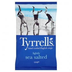 Tyrrells Crisps Lightly Sea Saltd Crisps150g
