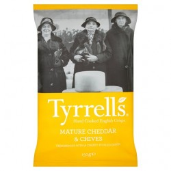 Tyrrells Crisps Mature Cheddar And Chive 150G