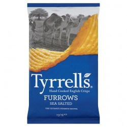 Tyrrells Crisps Sea Salted Furrows 150G